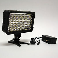 Pro 4k Hd Led Video Light With Ac Power Adapter For Panasonic Ac130a Ac160a Hd