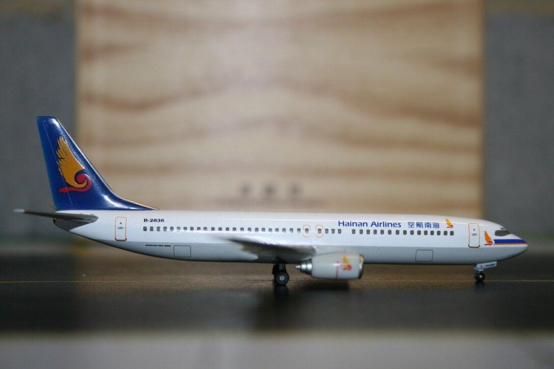 Herpa Wings 1 400 Hainan Airlines Airlines Airlines Boeing 737-800 B-2636 (560511) modelo de avión 38b8f0