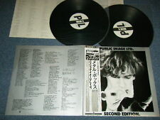 PIL PUBLIC IMAGE LIMITED Japan 1980 NM 2-LP+Obi METAL BOX SECOND EDITION.