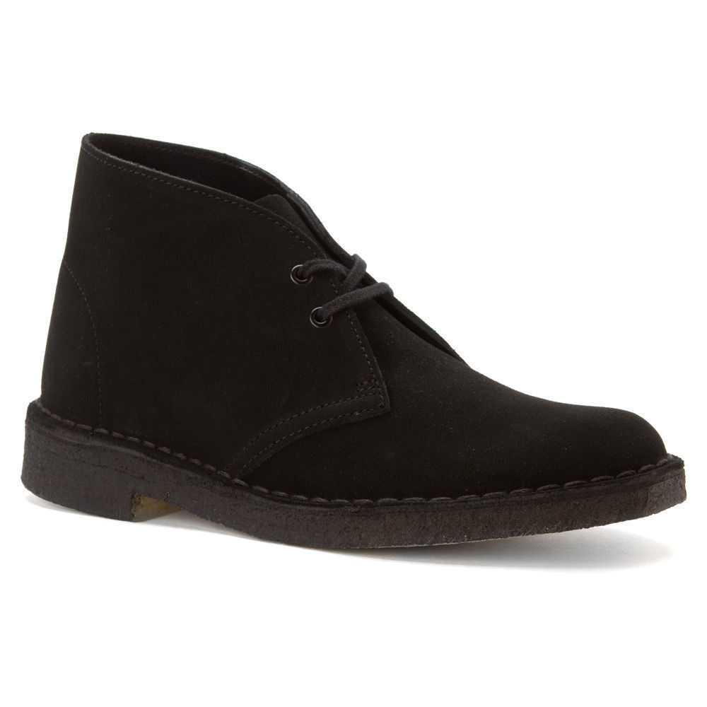 Clarks Originals Desert Boots Women's Suede Chukka Round Toe Shoe 26073898 Black