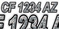 Digital Camo Custom Boat Registration Numbers Decals Vinyl Lettering Stickers Us