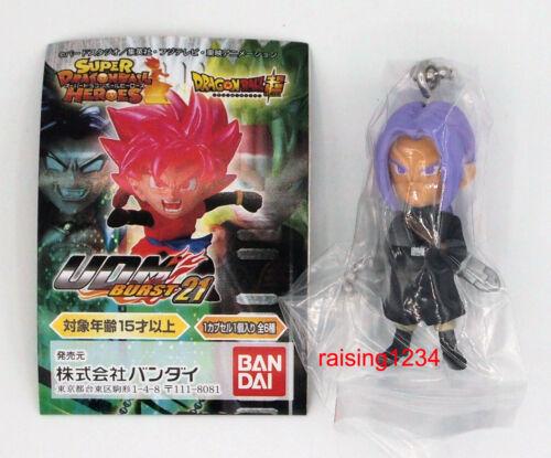 Bandai Dragon Ball Z Super UDM Burst 21 Figure Keychain Gashapon Trunks Xeno