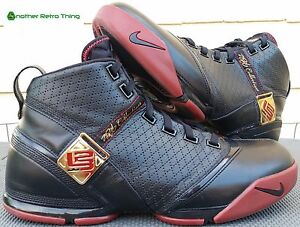896586c1916d72 Nike Zoom LeBron V 5 men sz 12 varsity black crimson gold 317253-001 ...