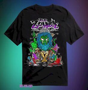 New Rob Zombie Cartoon Throne Mens Vintage Concert T Shirt Ebay