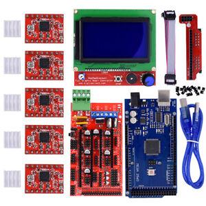 For Arduino Reprap 3D Printer Kit RAMPS 1.4 Mega2560 12864 LCD Controller A4988*