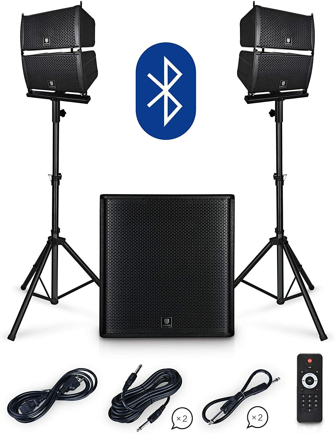 PRORECK Club 4000 18-inch 4000W P.M.P.O Stereo DJ/Powered PA Speaker System . Buy it now for 549.99
