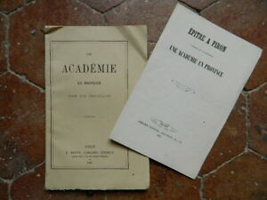 Una Academia En Provincia Por Un Estudiante Dijon En Hacia Dentu 1865