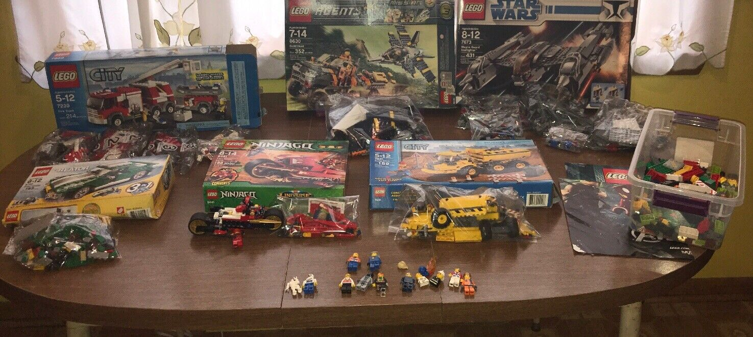 6 Lego Sets and Extras. Pieces May Be Missing From Sets.