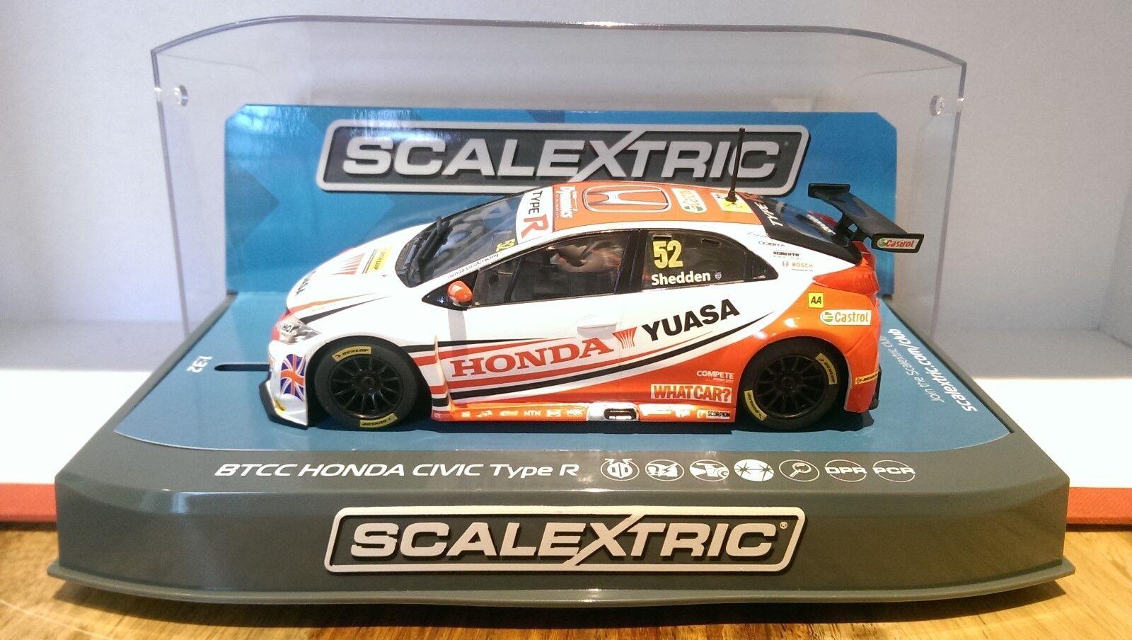 SCALEXTRIC C3783 BTCC 2015 Yuasa Racing Honda Civic Type R No.52 Gordon Shedden