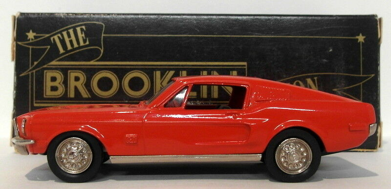 Brooklin 1 43 Scale BRK24A  001A  - 1968 Ford Mustang Fastback rosso