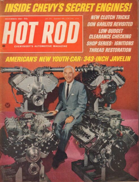 Hot Rod Magazine December 1967 Zorn Duntov 103117nonjhe
