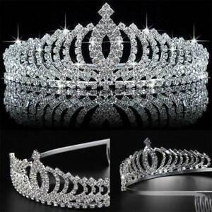 Crystal-Tiara-Wedding-Hair-Crown-Queen-Pageants-Headband-Bridal-Rhinestone-Bride