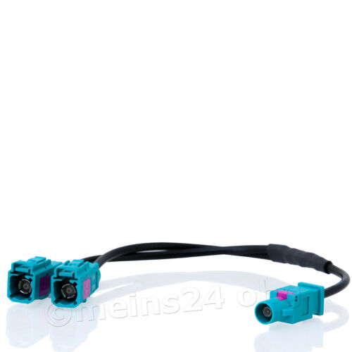 Fakra Antennen Adapter zwei 2 Fakra Buchsen auf Stecker AUDI VW RCD 300 210