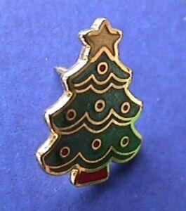 Hallmark-PIN-Christmas-Vintage-TREE-Enamel-Mini-Tie-Tac-Cloisonne-Holiday-Brooch