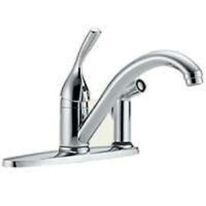 NEW DELTA 300 DST USA MADE SINGLE HANDLE KITCHEN FAUCET