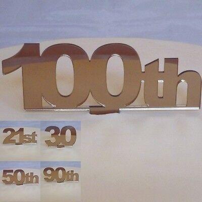 Sporting Celebration Number Cake Topper Bronze Acrylic (choose From Numbers 51 To 60) Talrijke In Verscheidenheid