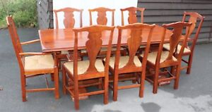 Charitable 1960's Teak Refectory Table And Set Of 8 Dining Chairs.6+2 Carvers.pop Out Seats Fancy Colours Furniture