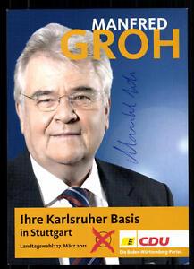 Politik Sammeln & Seltenes Manfred Groh Autogrammkarte Original Signiert ## 37295 Ein Bereicherung Und Ein NäHrstoff FüR Die Leber Und Die Niere