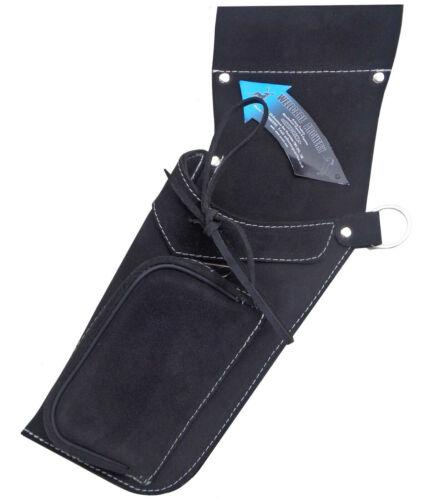Traditional fine en daim noir côté Hip Quiver Archery Products AQ-162 L//Main