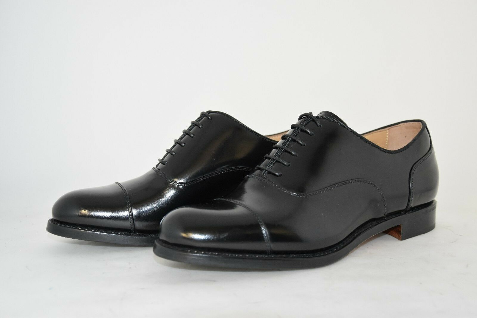 homme-4EU-5US-CAPTOE OXFORD-FRANCESINA-noir CALF-VITELLO noir-LEATHER SOLE