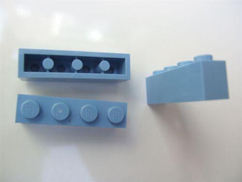 3 x Lego Blue rectangular bricks – 4163696 size 1x4 Parts /& Pieces