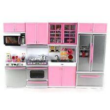 Deluxe Modern Kitchen Battery Operated Doll Playset-lights and sounds Gift Toy