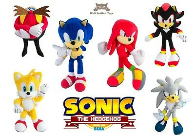 Tomy Sonic Hedgehog Small Plush Soft Toy Knuckles Eggman Silver Tails Shadow Ebay