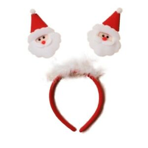 Girls-Christmas-Santa-Claus-and-Feathers-Deeley-Bopper-Alice-Hair-Band-Headband