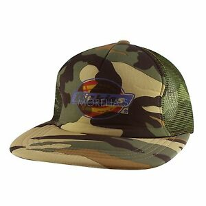Details about Dickies Military Camouflage Hip-hop Era Trucker Snapback Flat  Baseball Cap Mens b881f3ec06d6