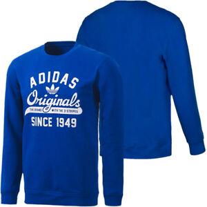 Mount Bank oficial Comercial  Men's New Adidas Originals Sweatshirt Jumper Sweater Pullover Top 100%  Cotton   eBay