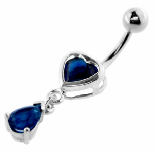 Dark-Blue-Heart-Moving-Jeweled-Design-Navel-Ring