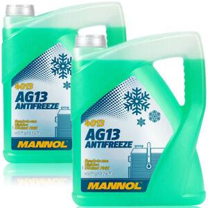 2x-5L-Kuehlerfrostschutz-Gruen-Mannol-Antifreeze-40-C-Kuehlmittel-BMW-Ford-Opel