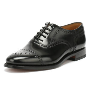 Angemessen Loake Mens Black 201b Brogue Classic Formal Shoes Lace Up Leather Smarts Eine GroßE Auswahl An Modellen