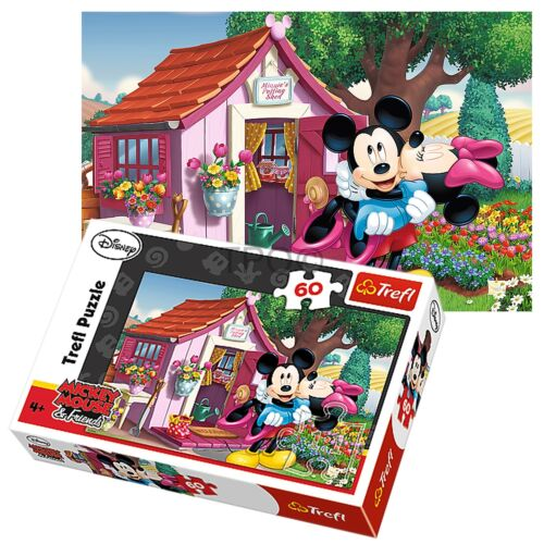 Trefl 60 Pièce Enfants Unisexe Mickey /& Minnie Mouse dans le jardin Jigsaw Puzzle Neuf
