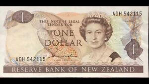 Bank-Of-New-Zealand-One-Dollar-P169b-VF-EF-ADH542115