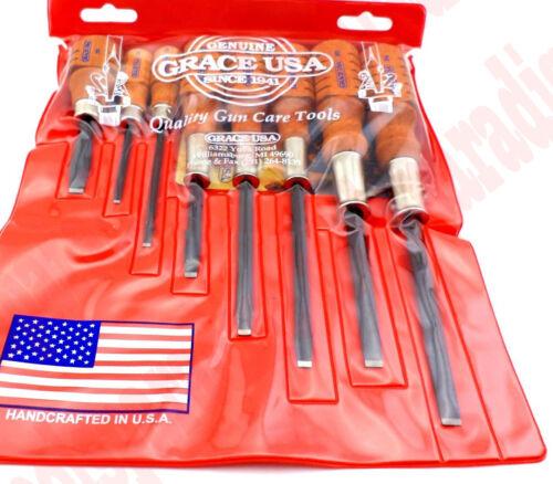 Vintage Type Gunsmith Hardwood Handle Screwdriver Gun Tool Hollow Ground Kit Set