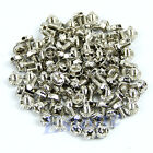 100pcs Toothed Hex 6/32 Computer PC Case Motherboard Mounting Screws Hard Drive