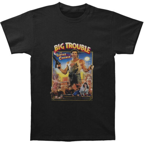 Big Trouble in Little China T-Shirt Top Kurt Russell Film Retro Men Black