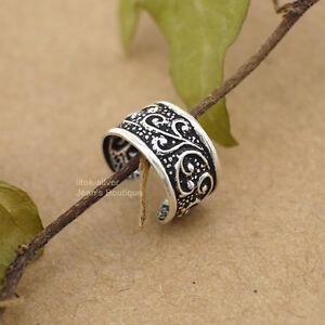 f8e09ea2f 1PC 925 Sterling Silver Bali Oxidized Style Ear Cuff Wrap Clip-on ...