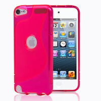 Pink S-Shape S-Line TPU Rubber Skin Cover Case For Apple iPod Touch 5 5th Gen