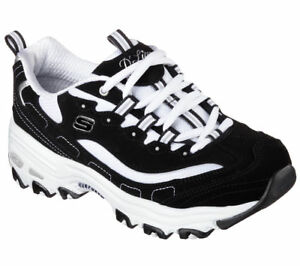 Shoes-Black-Dlites-Skechers-Women-039-s-Sport-11930-BKW-Comfort-Memory-Foam-Sneaker