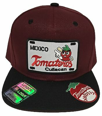 Sports Mem, Cards & Fan Shop Tomateros De Culiacan Hat Maroon Black With 2 Logos Snap Back Flat Build Reasonable Price Baseball-other