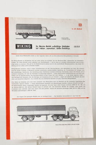 Wiking Image Price List 1975 71224