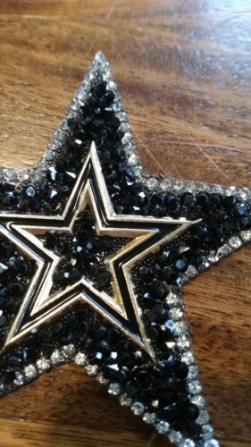 Patch verschiedene Sterne mit Strasssteinen Glitzer Applikation Bügelbild
