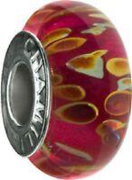 Authentic Chamilia Cored Glass Bead Pink Lemonade -- Ob-151