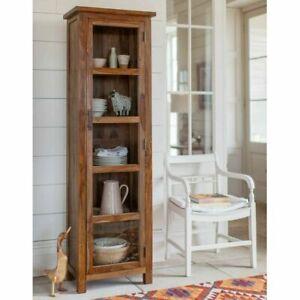 Kitchen Storage Pantry Cabinet Cupboard Food Organizer Wooden Tall Shelf