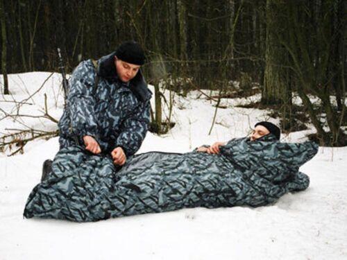 "NPO SM Spetsnaz OMON SLEEPING BAG /""MECHTA/""/"" CAMO /""GREY PODLESOK/"" NEW"