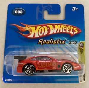 2005-HotWheels-FERRARI-575-GTC-RED-ROSSO-Nuovo-di-zecca-MOC
