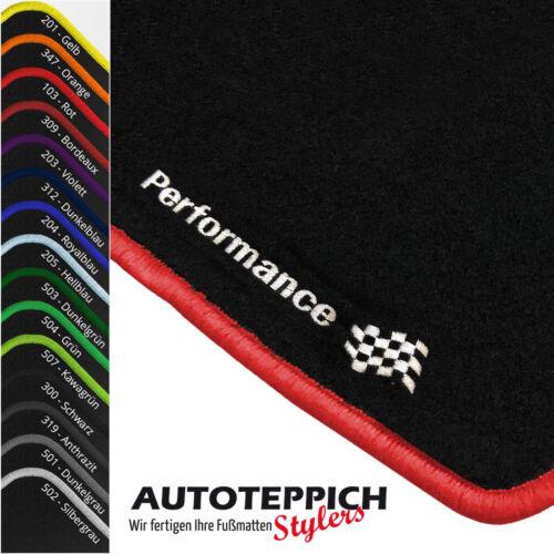 Fußmatten PERFORMANCE vers Farben für Opel Tigra A Bj 1994-2001