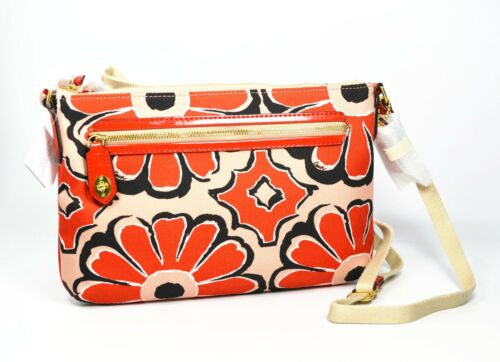 Swingpack Sjaal Cross West body Bag Floral Poppy Afdrukken East Coach 49769 L43jq5AR